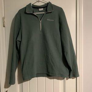 "Columbia Green 3/4"" Fleece Pullover"
